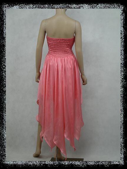 CHIFFON STRAPLESS PROM WEDDING COCKTAIL EVENING DRESS GOWN UK18 20