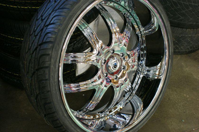 26 305/30 Inch Asanti AF150 7 Inch Lip Kumho AF 150 Chrome Wheels Rims