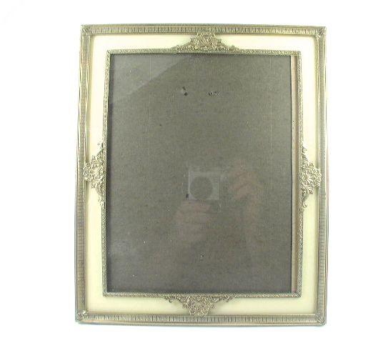 Antique Reverse Painted Glass Portrait Frame c 1920s