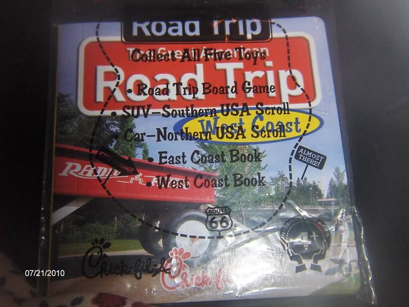 Fil A Kids Meal Toy Road Trip Game West Coast Car Travel Game MIP