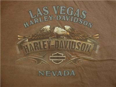 LOT 2 MENS HARLEY DAVIDSON BLACK BROWN SHORT SLEEVE T SHIRTS CLOTHES