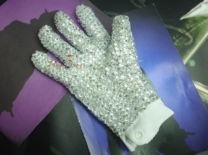 Luxury Handmade Michael Jackson Billie Jean Glitter Glove MJ Cool