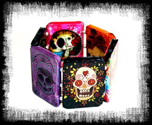 Dia de los Muertos Day of the Dead Bracelet Sugar Skull Tattoo