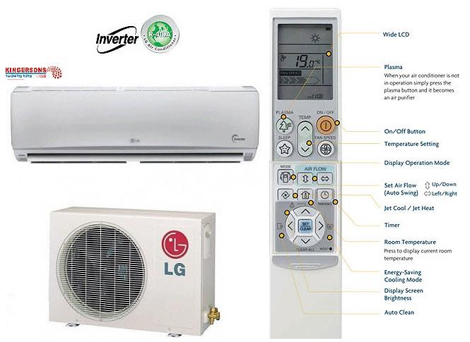 LG Ductless Mini Split Air Conditioner SEER 18 COOL/HEAT ENERGY STAR