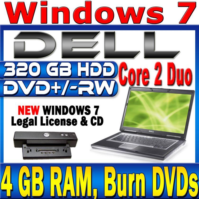 Dell Latitude D630 Core 2 Duo Laptop Computer 320 GB WiFi New Legal