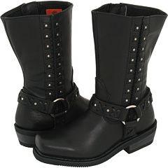 HARLEY DAVIDSON Womens Auburn Riding Boots Black D85431