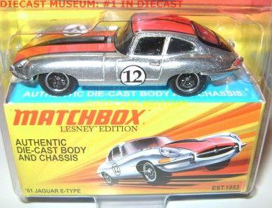 61 1961 JAGUAR E TYPE DIECAST LESNEY MATCHBOX
