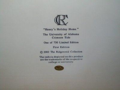 University of Alabama Crimson Tide Henrys Holiday Home